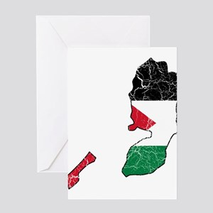 Palestine Flag And Map Greeting Card