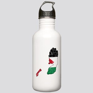 Palestine Flag And Map Stainless Water Bottle 1.0L