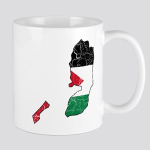 Palestine Flag And Map Mug