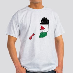 Palestine Flag And Map Light T-Shirt
