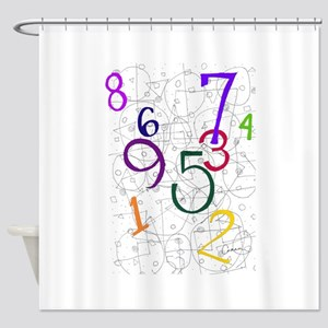 Numbers in Color Shower Curtain