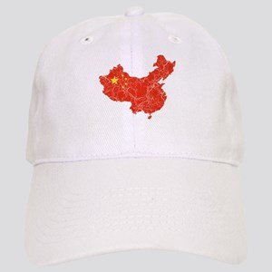 China Flag And Map Cap