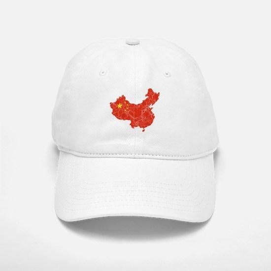 China Flag And Map Baseball Baseball Cap