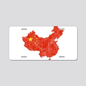 China Flag And Map Aluminum License Plate
