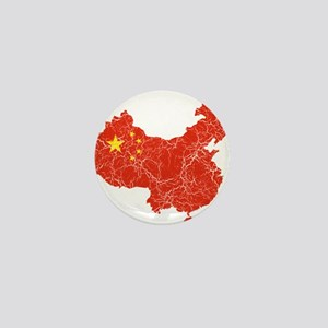 China Flag And Map Mini Button