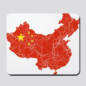 China Flag And Map Mousepad