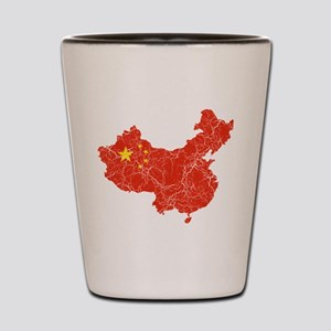 China Flag And Map Shot Glass
