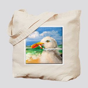 Sammy The Seagull Smokes A Cig Tote Bag