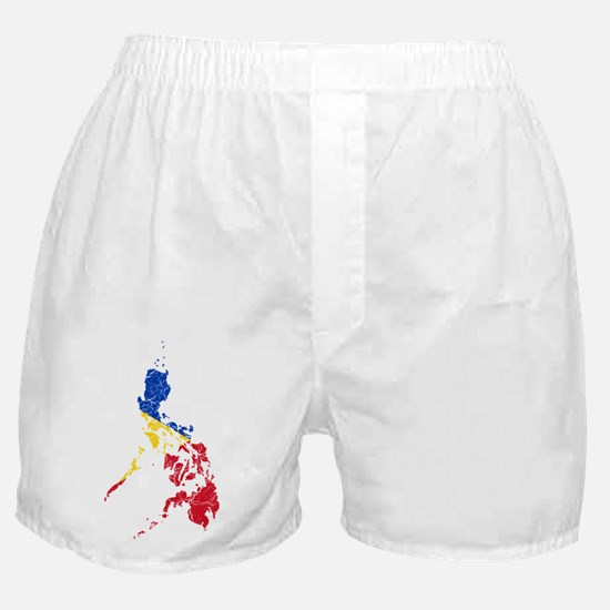 Philippines Flag And Map Boxer Shorts