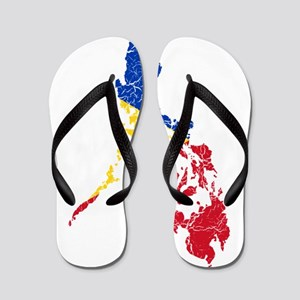 89194eb12 Philippines Flag Flip Flops - CafePress