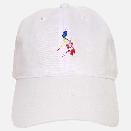 Philippines Flag And Map Cap