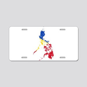 Philippines Flag And Map Aluminum License Plate