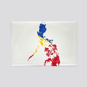 Philippines Flag And Map Rectangle Magnet