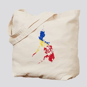 Philippines Flag And Map Tote Bag