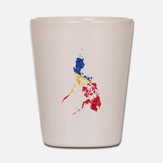 Philippines Flag And Map Shot Glass
