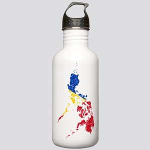 Philippines Flag And Map Stainless Water Bottle 1.