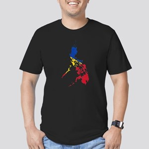Philippines Flag And Map Men's Fitted T-Shirt (dar