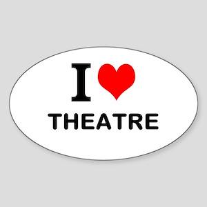 I LOVE THEATRE Sticker (Oval 10 pk)