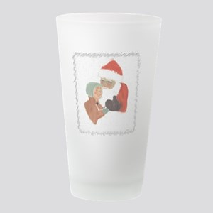 girl santa box.jpg Frosted Drinking Glass