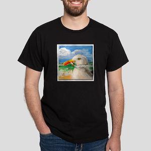 Sammy The Seagull Smokes A Cig Dark T-Shirt