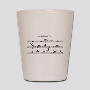Melodious Cats Shot Glass