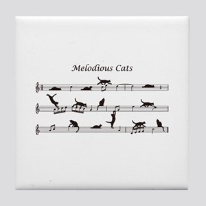Melodious Cats Tile Coaster