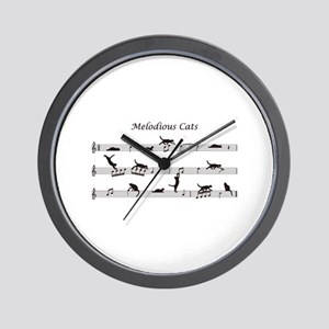 Melodious Cats Wall Clock