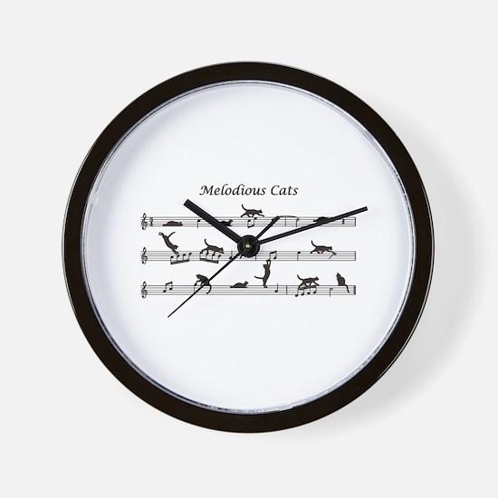 Melodious Cats Wall Clock