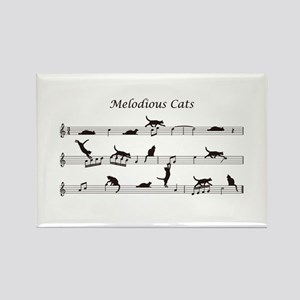 Melodious Cats Rectangle Magnet