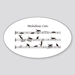 Melodious Cats Sticker (Oval)