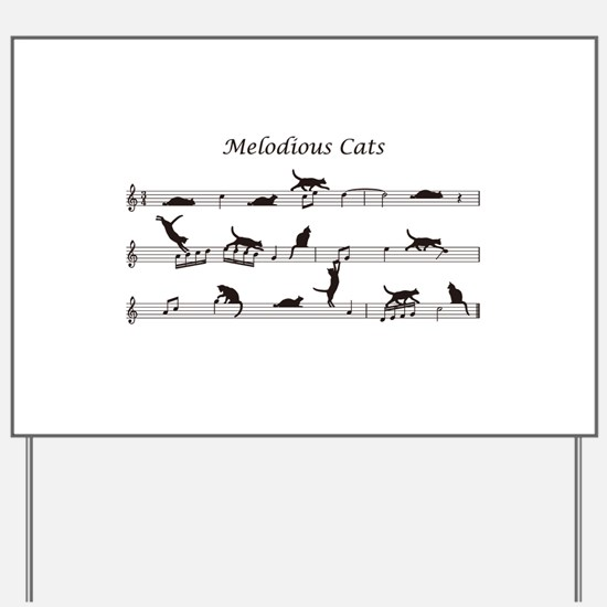Melodious Cats Yard Sign
