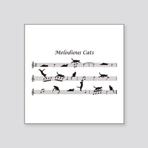 """Melodious Cats Square Sticker 3"""" x 3"""""""
