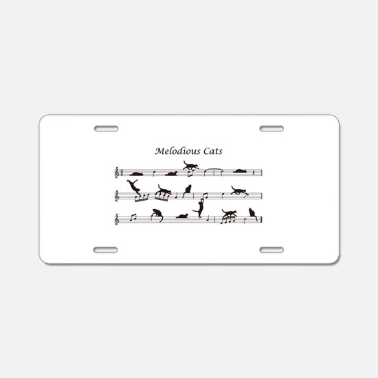 Melodious Cats Aluminum License Plate