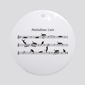 Melodious Cats Ornament (Round)