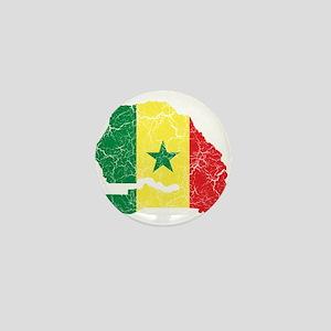 Senegal Flag And Map Mini Button