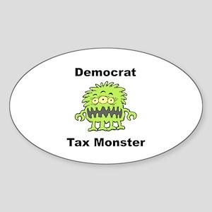 Democrat Tax Monster Oval Sticker