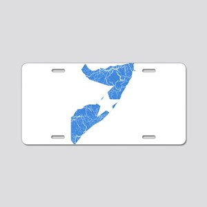 Somalia Flag And Map Aluminum License Plate