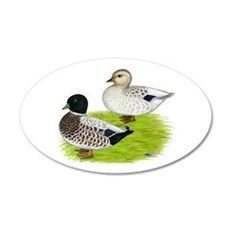 Snowy Call Ducks Wall Decal