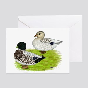 Snowy Call Ducks Greeting Card