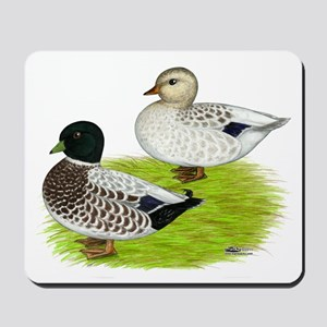 Snowy Call Ducks Mousepad