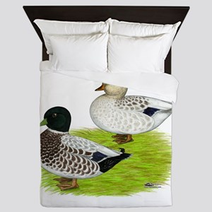 Snowy Call Ducks Queen Duvet