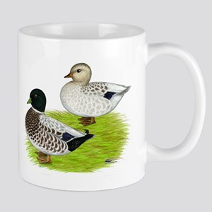 Snowy Call Ducks Mug