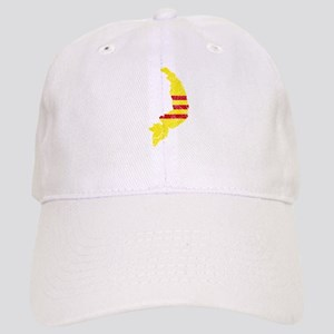 South Vietnam Flag And Map Cap