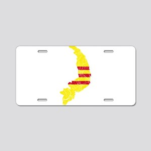 South Vietnam Flag And Map Aluminum License Plate