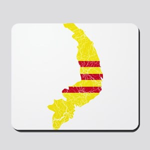 South Vietnam Flag And Map Mousepad