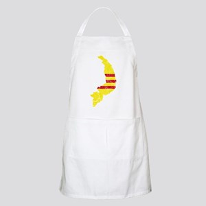 South Vietnam Flag And Map Apron