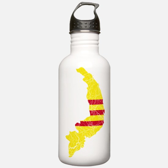 South Vietnam Flag And Map Water Bottle