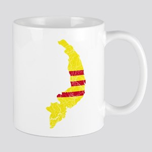 South Vietnam Flag And Map Mug