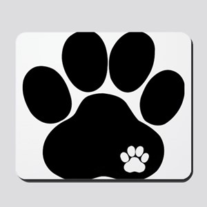 Double Paw Print Mousepad