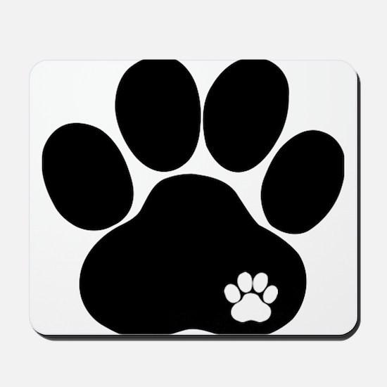 Double Paw Print Mousepad